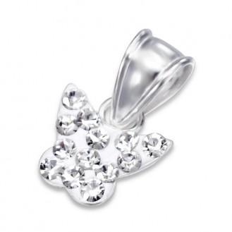 """Dětský stříbrný přívěsek s krystaly """"Motýlek"""". Ag 925/1000"""
